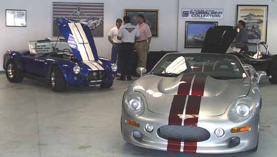 Showroom in Shelby-American headquarters at Las Vegas Motor Speedway, 1998. Photo by Curt Scott