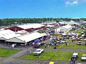 aerial shot#2 of kit car Cobra Nationals, Carlisle, Pennsylvania, 1998