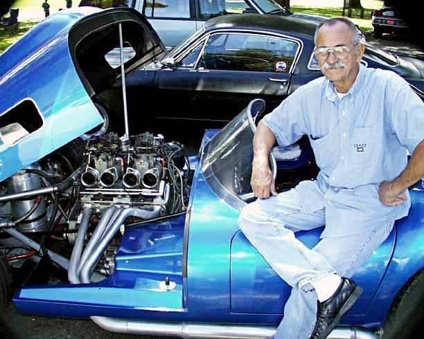 Famed car builder (and Legend-era Shelby employee) Chuck Beck at LASAAC/Woodley Park show, 1999