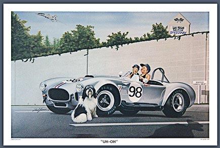 Carroll Shelby's #98 silver car print