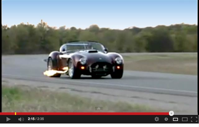 YouTube video still capture of Primal Red Pearl E.R.A. 427SC Shelby classic Cobra for sale, ERA462