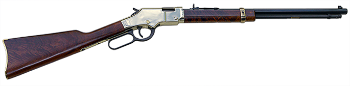 closeup photo#2, sideview of Henry rimfire .44 carbine once owned by Carroll Shelby