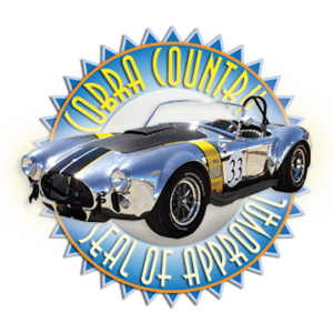Cobra Country Seal of Approval, designed by Shelby artist Paul Smith