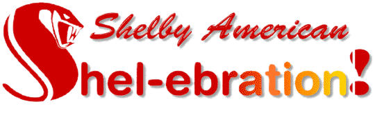 Cobra Country's custom masthead for various Shelby-American shows and track event feature articles