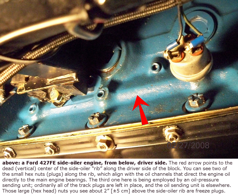 427FE side-oiler engine