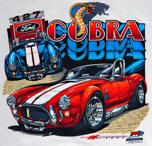 NorCal Mini-Nationals Annual Shelby Cobra event, closeup of Greg Tedder T-shirt
