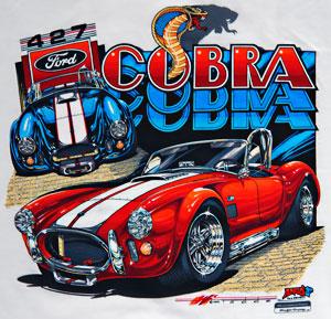 NorCal Mini-Nationals Annual Shelby Cobra event, closeup of Greg Tedder T-shirt