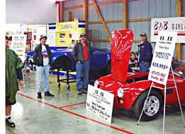 Guards Red 427 Shelby Cobra at Kit Car Cobra Nationals Show in Carlisle, Pennsylvania, 1998