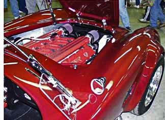 red Classic Roadsters Cobra with Dodge Viper V12 powerplant