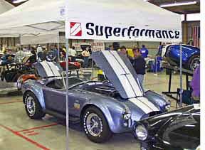 Superformance Cobra booth at Carlisle, Pennsylvania show, 1998