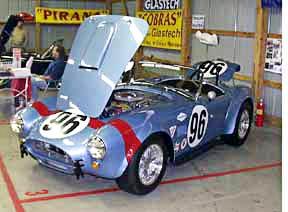 Viking Blue Unique Motorcars 289FIA Cobra #96 at Carlisle