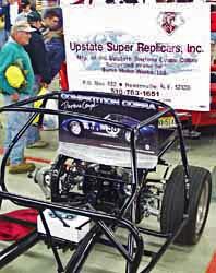 USR-Upstate Super Replicars Daytona Coupe, chassis photo, at kit car Cobra Nationals show, 1998