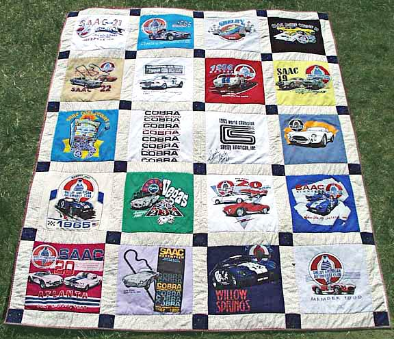 Shelby Cobra handmade quilt for sale at LASAAC Woodley Park show, 1999