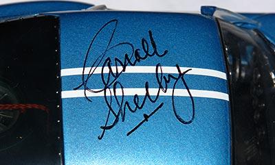 Exoto Daytona Coupe #5 Carroll Shelby autograph