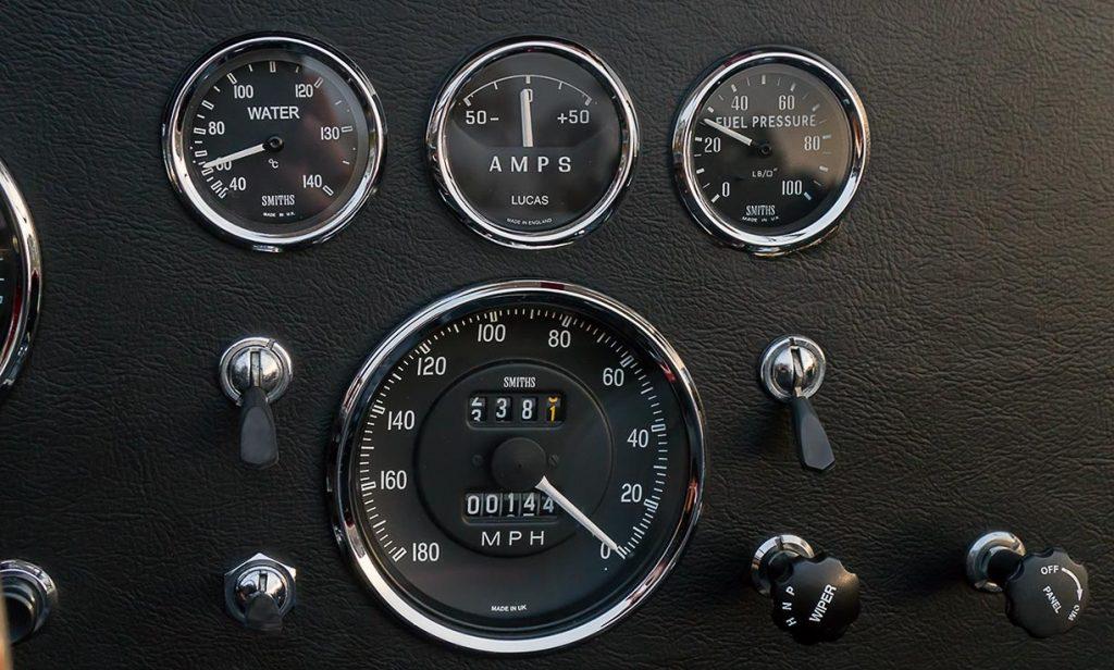 Shelby Cobra dash gauges CSX4229