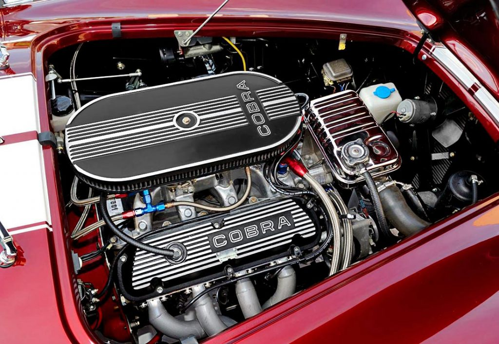 351W engine photo of Sunset Red Superformance 427SC Cobra for sale, SPO2198