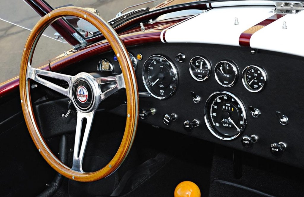 dashboard photo#1 of Sunset Red Superformance 427SC Cobra for sale by owner, SPO2198