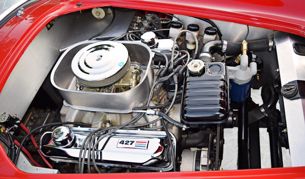 427 engine photo #2 of Rangoon Red Hurricane Motorsports 427SC Shelby classic Cobra for sale, #HM1021