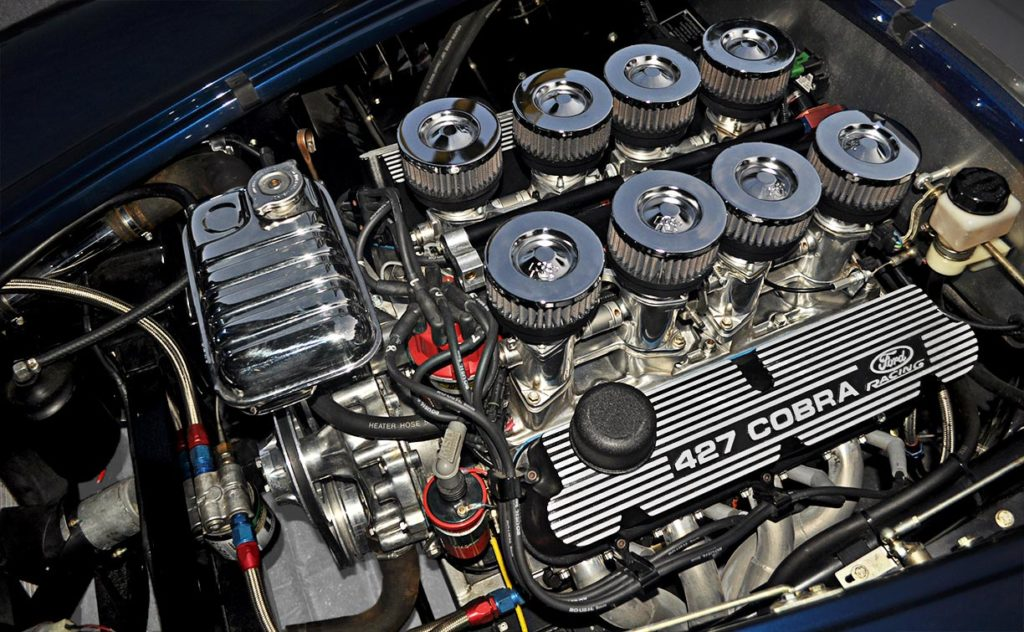 427IR Roush engine photo #1 of Indigo Blue Superformance 427SC Shelby classic Cobra for sale, SPO2666