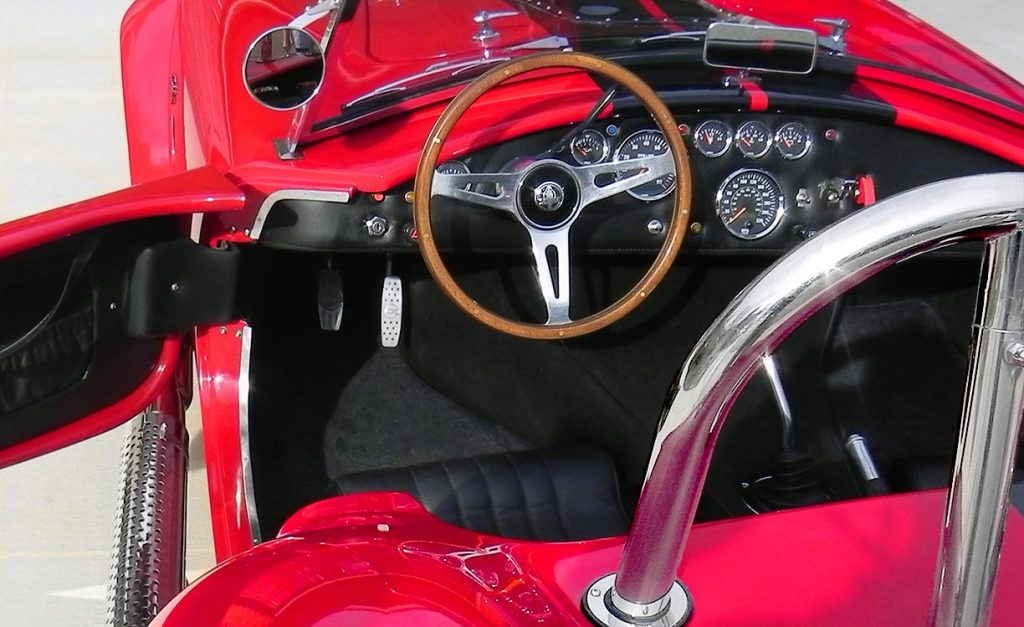 photo#2 of cockpit in Salsa Red Backdraft Racing 427SC Cobra for sale, BDR722