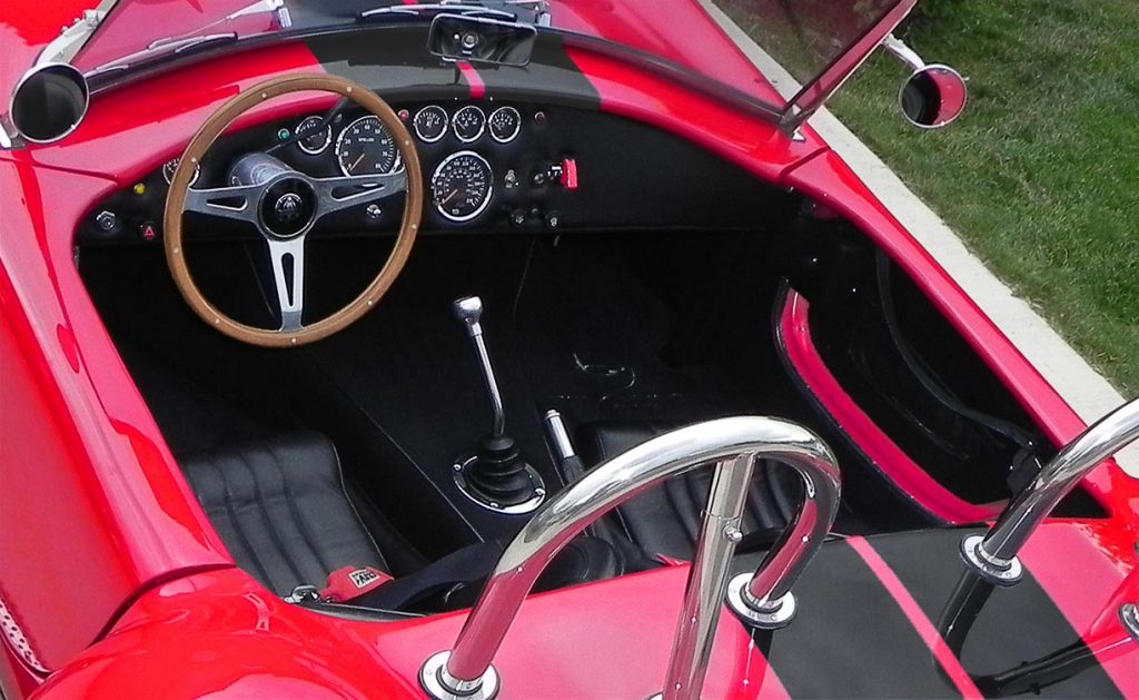 photo#3 of cockpit in Salsa Red Backdraft Racing 427SC Cobra for sale, BDR722