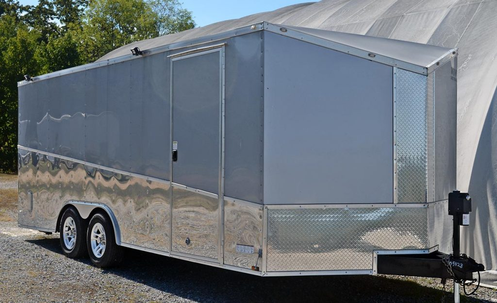 Wow enclosed cargo trailer for Sterling Gray/silver stripes Unique Motorcars 427SC Shelby classic Cobra for sale by owner