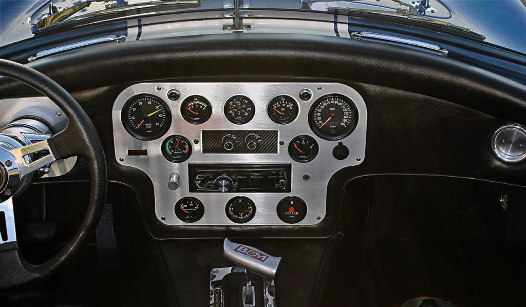 dashboard shot#2 of Guardsman Blue/Wimbledon White stripes West Coast Cobra, California SB-100, for sale