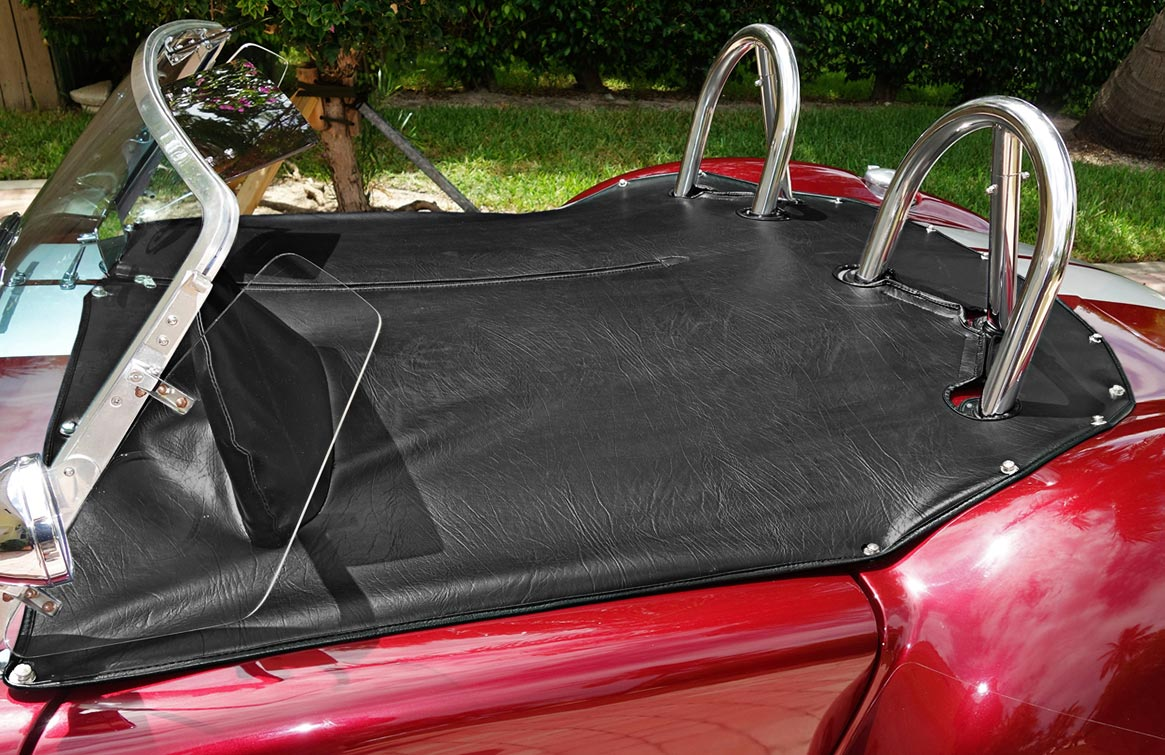 photo of tonneau cover on Prism Red 427SC Shelby classic Backdraft Cobra for sale by owner