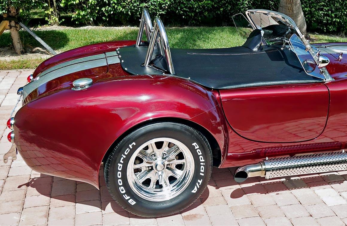rear-quarter shot#1 (passenger side) of Prism Red 427SC Shelby classic Backdraft Cobra for sale by owner