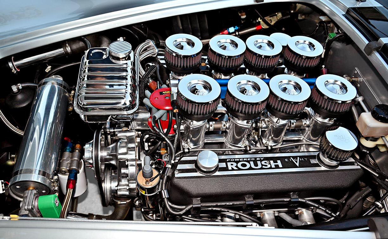 engine photo#2 of Stuttgart Silver/black stripes 427SC Shelby classic Superformance Cobra (SPO1388 ) for sale by owner