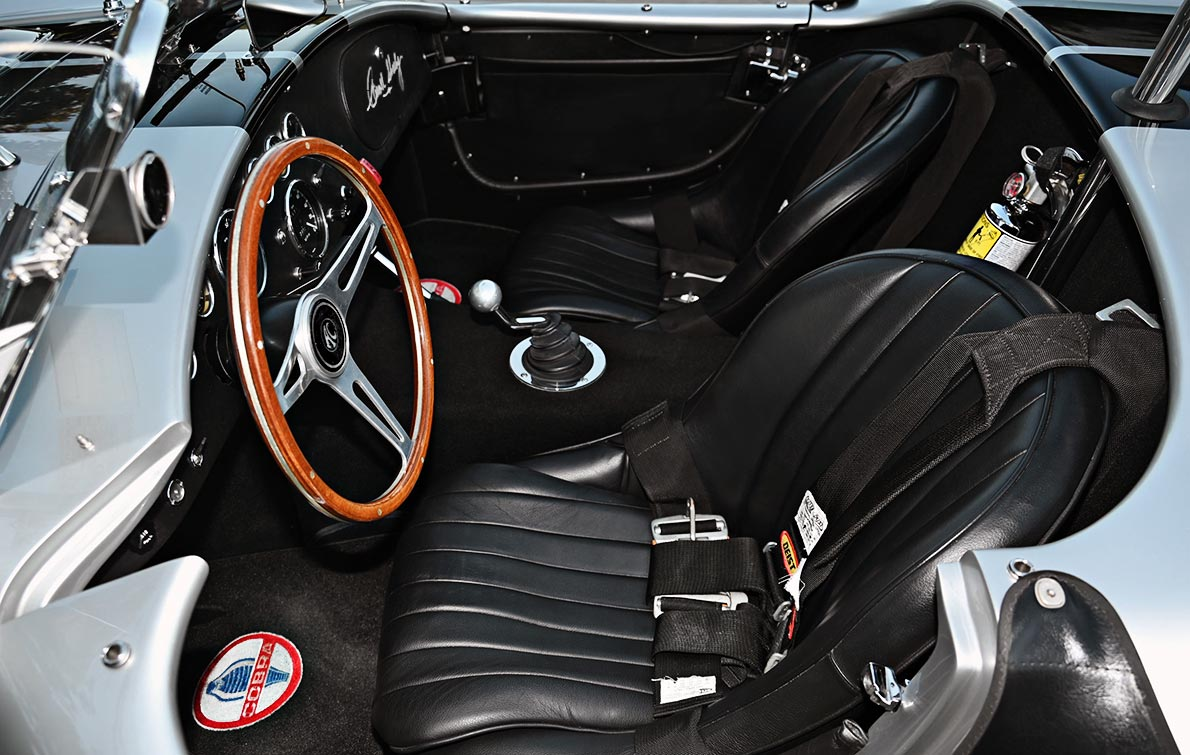 cockpit shot#1 of Stuttgart Silver/black stripes 427SC Shelby classic Superformance Cobra (SPO1388 ) for sale by owner