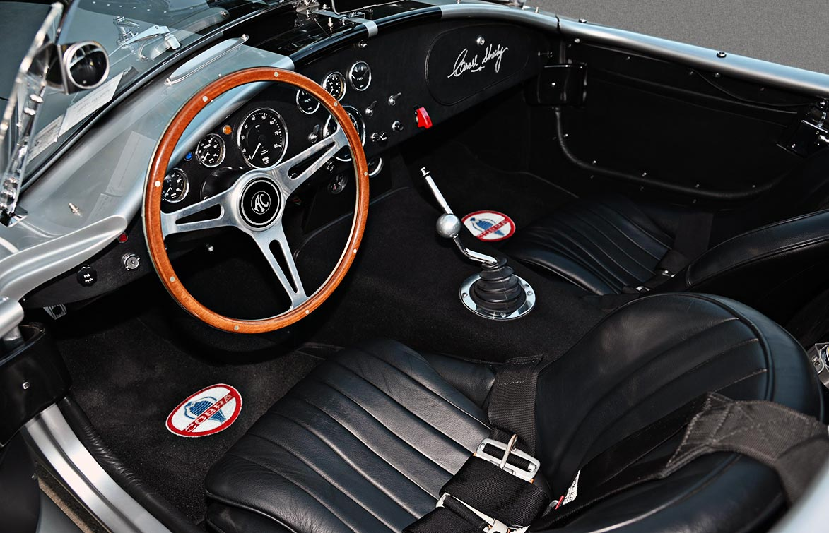 cockpit shot#2 of Stuttgart Silver/black stripes 427SC Shelby classic Superformance Cobra (SPO1388 ) for sale by owner
