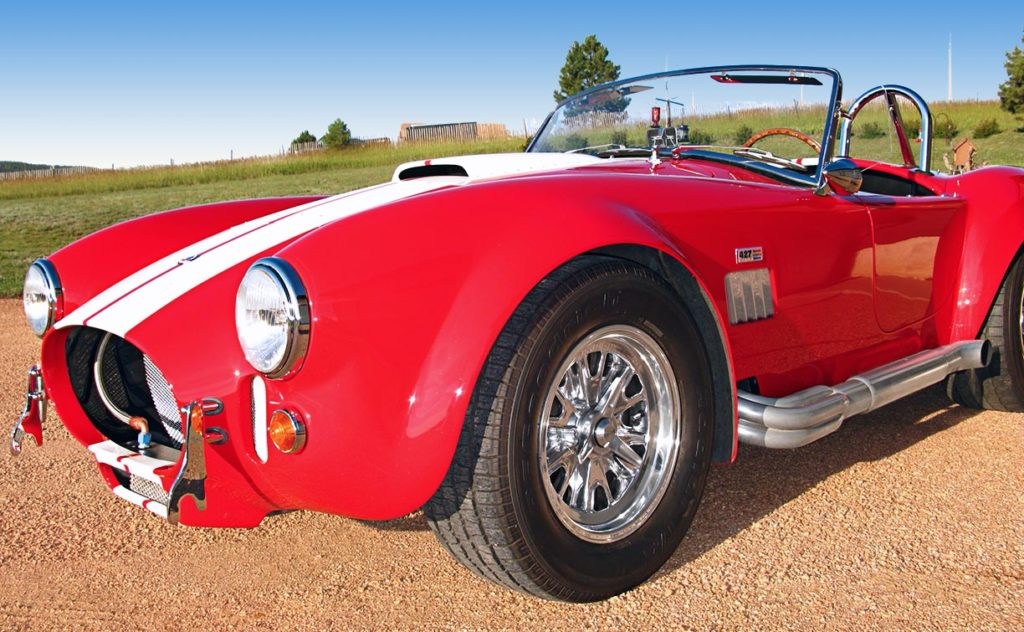 3/4-frontal view of Monza Red Superformance 427SC Cobra for sale by owner, SPO#0666