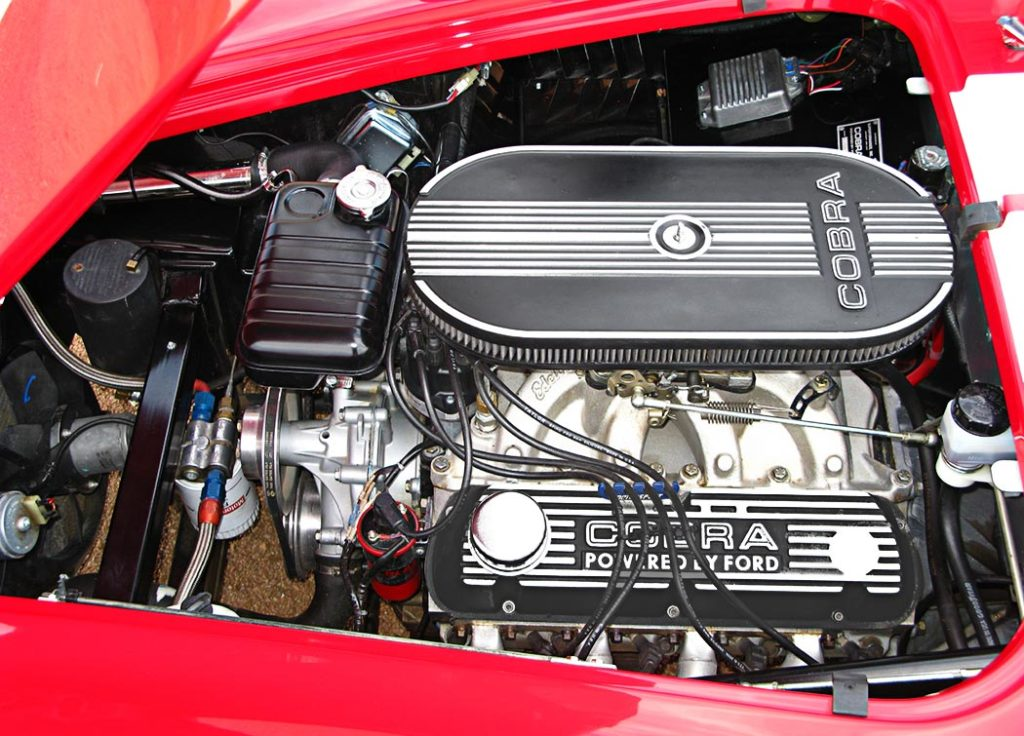 427 engine photo of Monza Red Superformance 427SC Cobra for sale by owner, SPO#0666