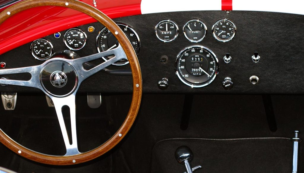 dashboard shot#1 of Monza Red Superformance 427SC Cobra for sale by owner, SPO#0666