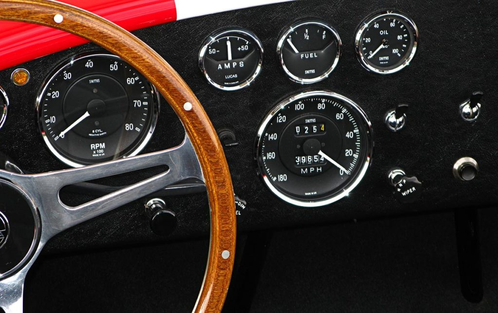 dashboard shot#2 of Monza Red Superformance 427SC Cobra for sale by owner, SPO#0666