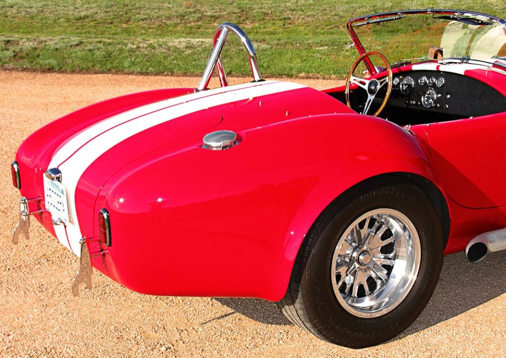 rear-quarterview of Monza Red Superformance 427SC Cobra for sale by owner, SPO#0666