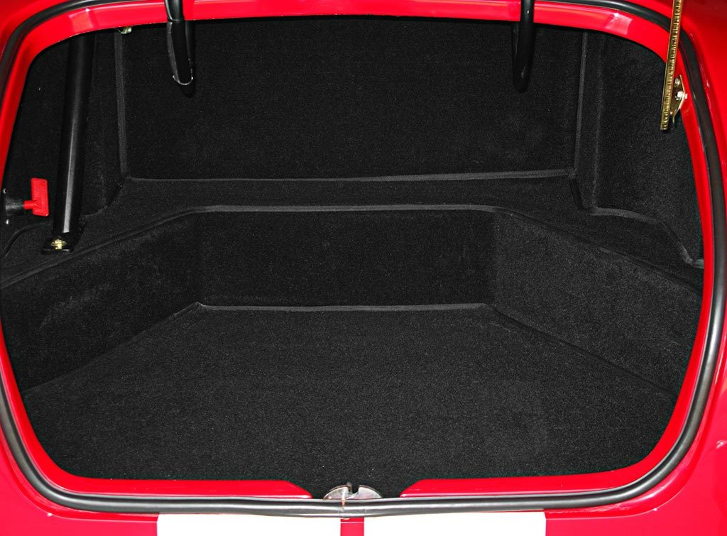 luggage compartment shot of Monza Red Superformance 427SC Cobra for sale by owner, SPO#0666