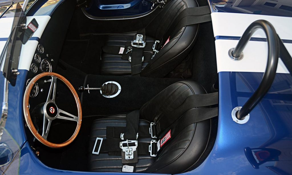 cockpit shot#1 (from driver side) of Viper Blue Hurricane Motorsports 427SC Shelby classic Cobra replica for sale by owner