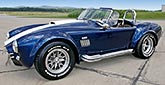 3/4-frontal thumbnail image of Royal Blue Metallic 427SC Shelby classic Superformance Cobra SPO2432, for sale by owner