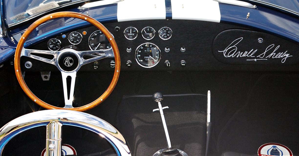dashboard shot#1 (from passenger side) of Royal Blue Metallic 427SC Shelby classic Superformance Cobra SPO2432, for sale by owner