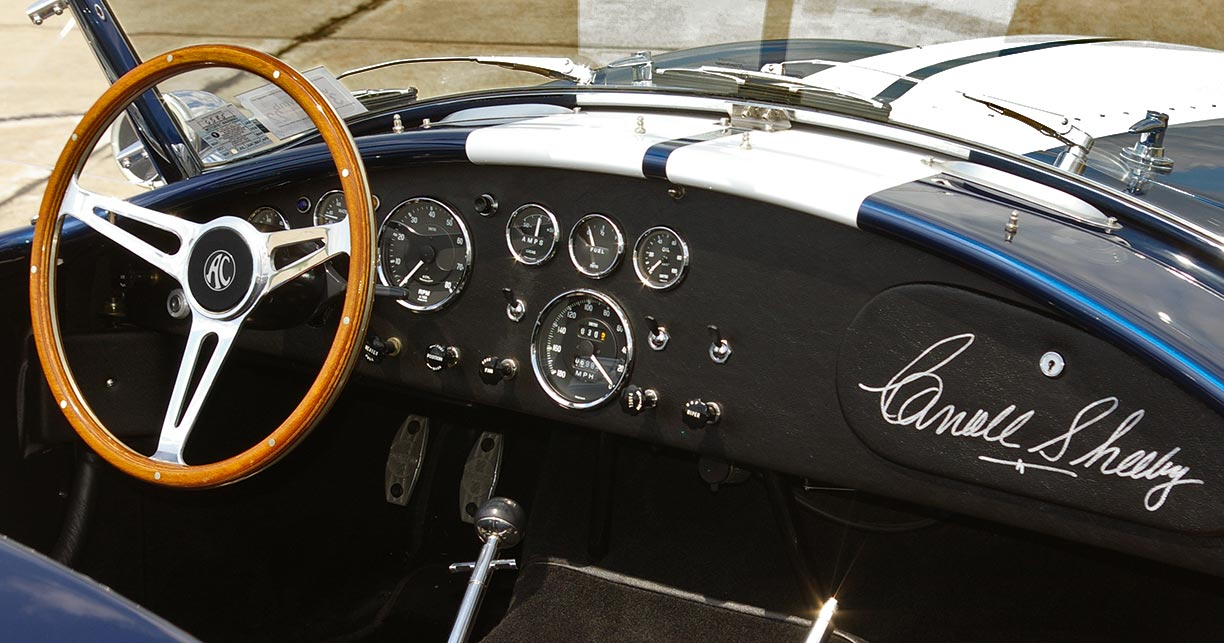 dashboard shot#2 (from rear of car) of Royal Blue Metallic 427SC Shelby classic Superformance Cobra SPO2432, for sale by owner