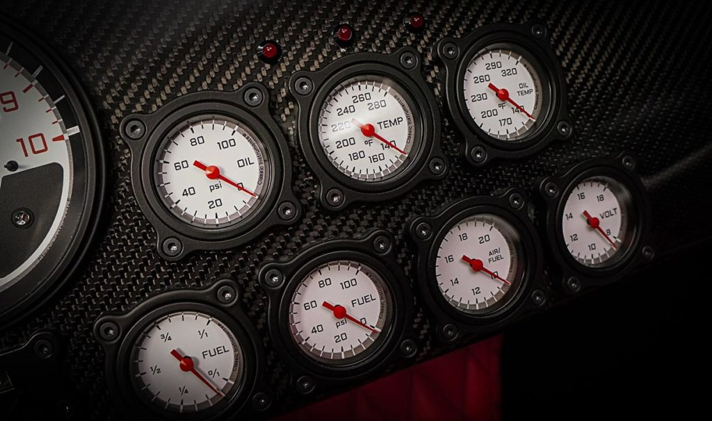 gauge array shot#B of Backdraft Racing replica Shelby classic 427SC Cobra vehicle for sale, BDR#1597