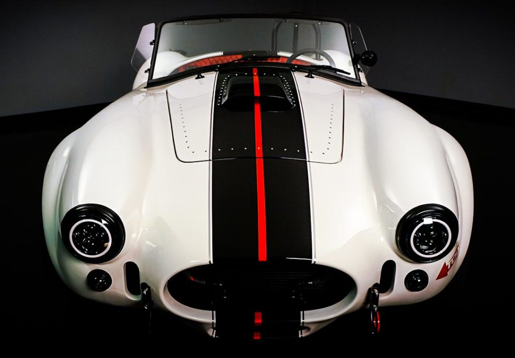 head-on frontal shot#B of Backdraft Racing replica Shelby classic 427SC Cobra vehicle for sale, BDR#1597