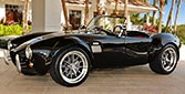 3/4-frontal thumbnail image of Onyx Black 427SC Shelby classic Backdraft Racing 'Street Version' Cobra (BDR1709) (BDR1709) for sale by owner