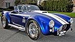 /4-frontal (passenger side) thumbnail image (passenger side) of Royal Blue Superformance 427SC Shelby classic Cobra for sale, SPO2464