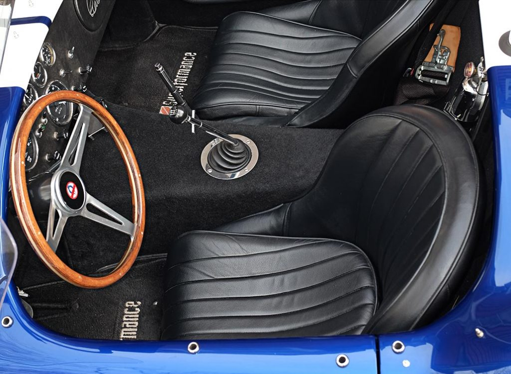 cockpit shot#1 (from driver side) of Royal Blue Superformance 427SC Shelby classic Cobra for sale, SPO2464