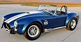 3/4-frontal thumbnail image of Royal Blue Metallic 427SC Shelby classic Superformance Cobra, SPO#0456 for sale by owner