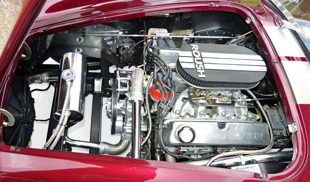 photo#1 of Roush V8 engine in Prism Red Backdraft Racing 427SC Shelby classic Cobra for sale, BDR625