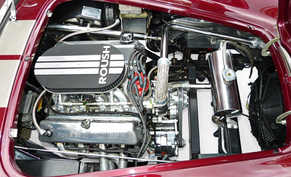 photo#2 of Roush V8 engine in Prism Red Backdraft Racing 427SC Shelby classic Cobra for sale, BDR625